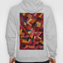 Komposition 1940 Mid Century Modern Abstract Geometric Colorful Pattern Painting Otto Freundlich Hoody
