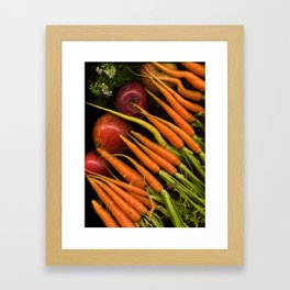 Carrots and Apples Framed Art Print