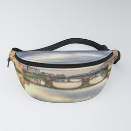 Arno River and Ponte Vecchio, Florence Fanny Pack