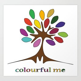 Deschemina - Colourful me Art Print