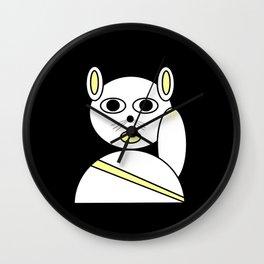 Maneki neko white Wall Clock