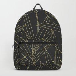 Elegant bamboo foliage gold strokes design Backpack
