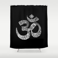 om Shower Curtains featuring OM by Maioriz Home