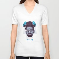 breaking bad V-neck T-shirts featuring BREAKING BAD by Mike Wrobel