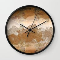 asian Wall Clocks featuring Asian background by dominiquelandau