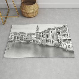 A view of Venice from Rialto Bridge Rug