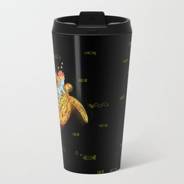 glowing turtle Travel Mug