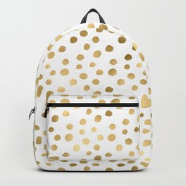 Glam Gold and White Confetti Pattern Backpack