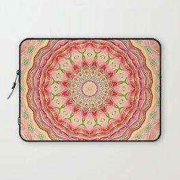 Mandala Tequila Sunrise -- Kaleidoscope of Vibrant Sunny Colors Laptop Sleeve