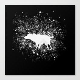 Banksy Dog Splash Paint Artwork Reproduction, Posters, Prints, Bags, Mugs, Postcards, Tshirts, Men, Canvas Print
