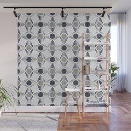Geometric Pattern. Circles and Rhombuses Wall Mural
