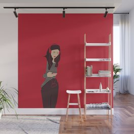 Red woman n2 Wall Mural