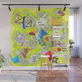 I Love Math Wall Mural