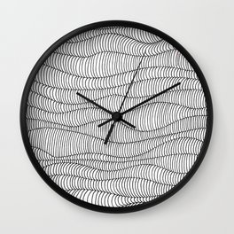 Waves Lines Wall Clock