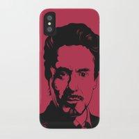robert downey jr iPhone & iPod Cases featuring Robert Downey Jr. by ArDem