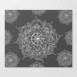 Gray mandala Canvas Print