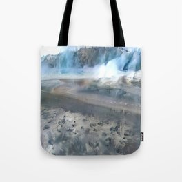 Yellowstone Winter Fog Tote Bag