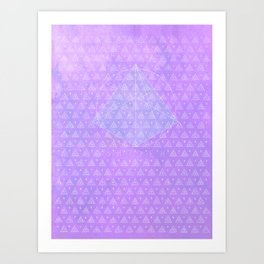 ICE PYRAMID △ [SHTYEH] Art Print
