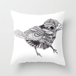 Ornate Bird Throw Pillow