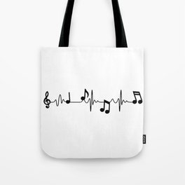 MUSICAL HEART BEAT Tote Bag
