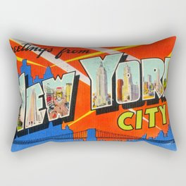 Greetings From New York City Rectangular Pillow