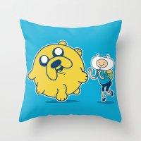 katamari Throw Pillows featuring Katamari Time! by MeleeNinja