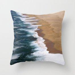Atlantic coast line Throw Pillow