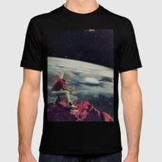 Figuring Out Ways To Escape MEDIUM Black Mens Fitted Tee
