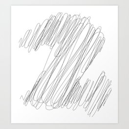 """"""" Cloud Collection """" - Minimal Number Two Print Art Print"""