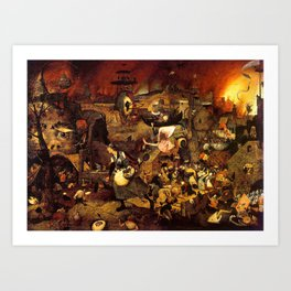 Mad Meg by Heironymus Bosch Art Print