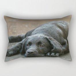 Labrador dog in the rain ! Rectangular Pillow