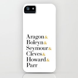 Six the Musical Queens - Ampersand Names iPhone Case