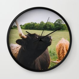 Majestic Highland Cow Wall Clock