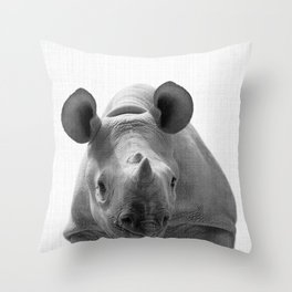Rhino Decor Throw Pillow