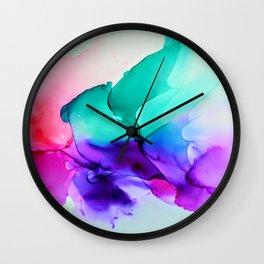 Diaphanous Colors Wall Clock