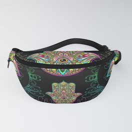 Hamsa Hand Amulet Psychedelic Fanny Pack