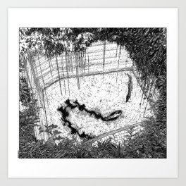 asc  833 - La reine de la jungle (Swimming hazards) Art Print