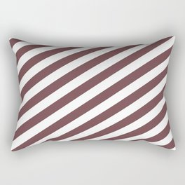 Pantone Red Pear & White Stripes Fat Angled Lines - Stripe Pattern Rectangular Pillow