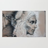 mother of dragons Area & Throw Rugs featuring Mother by Clayton Young