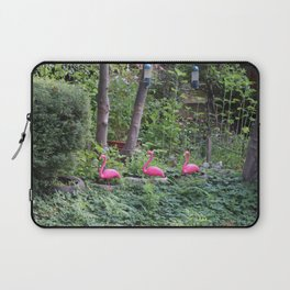 Flamingos by the water Laptop Sleeve