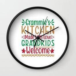 Grammie's Kichen Made With Love Wall Clock