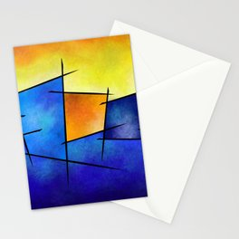 Esseniumos V1 - square abstract Stationery Cards