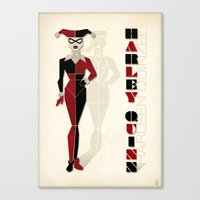 harley quinn Canvas Prints featuring Harley Quinn by Lily's Factory