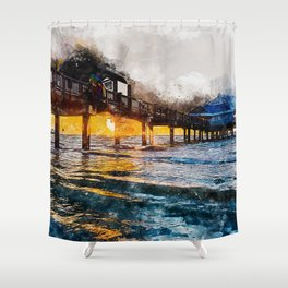 Pier 60, Clearwater Beach Shower Curtain