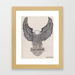 HD Eagle Framed Art Print