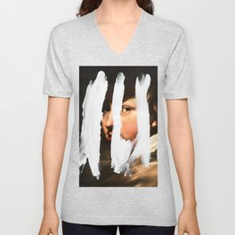 Untitled (Finger Paint 2) Unisex V-Neck