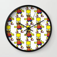 simpson Wall Clocks featuring Bart Simpson by GOONS