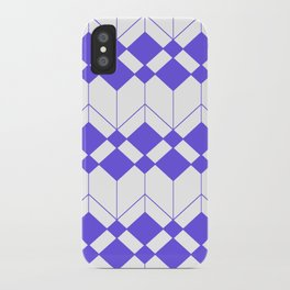 Abstract geometric pattern - blue and white. iPhone Case