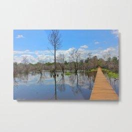Angkor Cambodia water reflections Metal Print