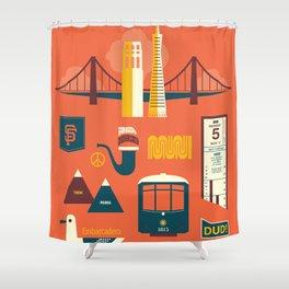 Sanfrancisco Shower Curtain